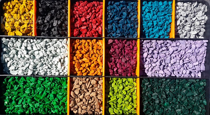 Производство цветного щебня и декоративной крошки