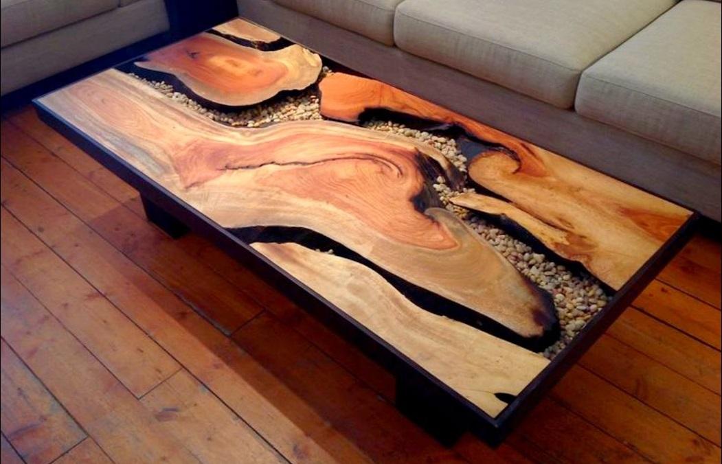Как заработать на изготовлении столов из эпоксидной смолы и дерева.